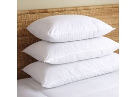 "Qty 2 King: 20""x36"" Premium 500tc Goose Down Pillow"