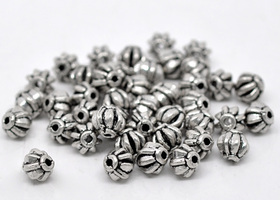 60 Antique Silver Lantern Spacer Beads