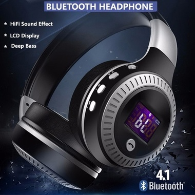 Bluedio HT Bluetooth Wireless Headphone Headset Calls for Phone Tablet - Black