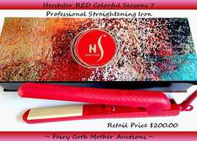 NIB Herstyler Colorful Seasons 7 Professional Flat Iron