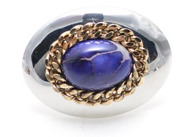 Silver Purple Stone Ring Size 7