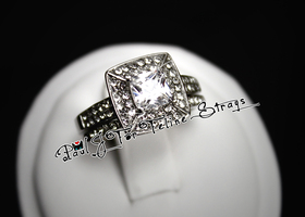 5 6 7 8 9 10 Gorgeous Square Cut CZ Wedding Ring Set