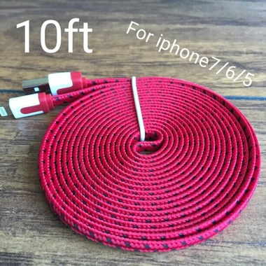 red color* 10ft for iPhone 7/7plus/6/6plus/5/5s/5c