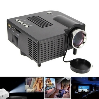 NEW 2018 HDMI LED Projector for Home Cinema and Theater PC Laptop with AV VGA US