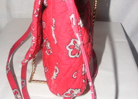 Vera Bradley Hipster Cross Body Swing Bag Red Bandana