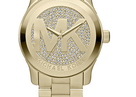 Michael Kors Runway Logo Gold-Tone Watch