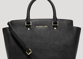 Michael Kors Selma Black Saffiano Leather Satchel