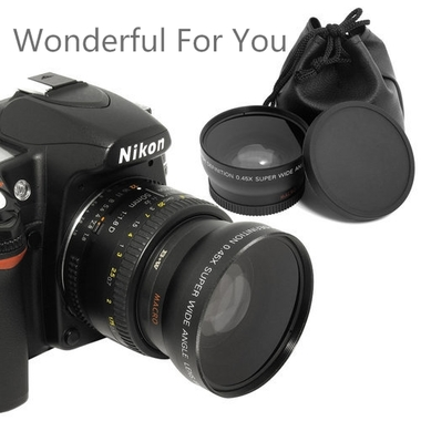 Cool Nice Wonderful For You 52MM-LENS 0.45x Photo Professional HD Wide Angle Len