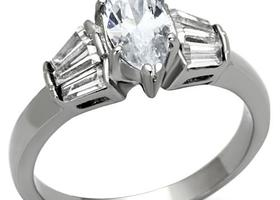 Diamond Cut CZ Ring, Sizes 5-10