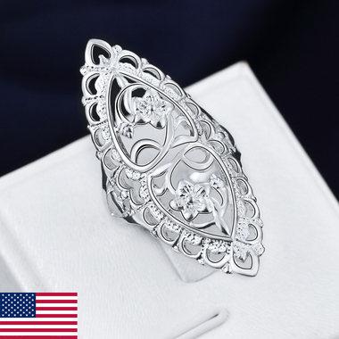 Hot Sale Romantic Ring Beautiful Ring Insets More Hollow Ring