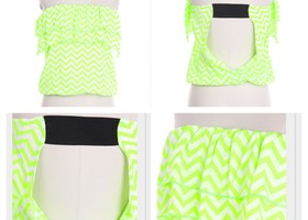Ruffle-Me-Up Chevron Tube Top (Small)