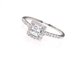 Sz 5/6/7/8/9/10 Princess Cut Halo Engagement Ring