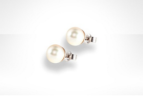 Genuine Akoya Pearl Stud Earrings