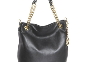 Michael Kors Jet Set Chain Shoulder Tote Black