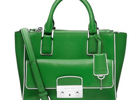 MK Medium Audrey Satchel in Palm Green