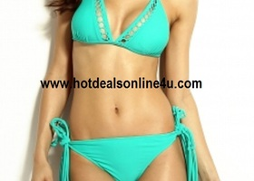 Sizes S, M, L Mint Bikini Set with Long Tassels