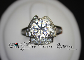 "✦ 5-10 ""Aristotle's Ice"" Triangle ▲ Ring 2.11ct AAA CZ"