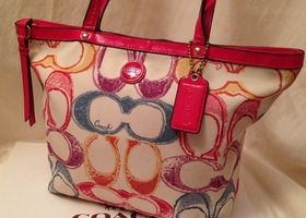 Coach Signature Scribble Tote