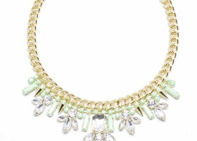 Cayman Mint Crystal Necklace