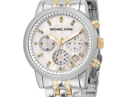 Michael Kors Chronograph Two-tone Ladies Watch