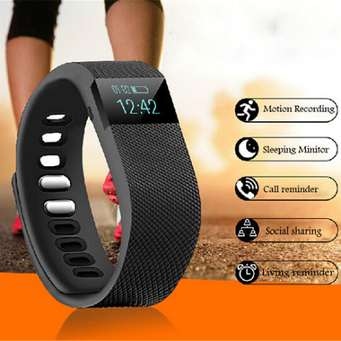 Sports Bracelet Bluetooth 4.0 Smart Wristband Digital-watch Pedometer APP For iP