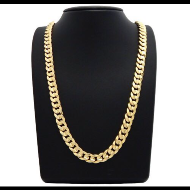 14K Gold Filled Solid Thick Cuban Chain