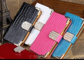Beautiful Leather Wallet/Case for Iphone 5,5s