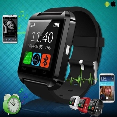 Bluetooth Touch Screen Smart Wrist Watch Phone Mate for Smartphone SIM/TF Apple