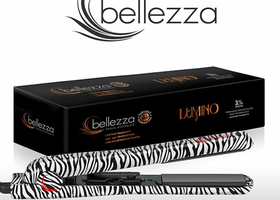 "Bellezza Lumino 1.25"" Flat Iron- Zebra"