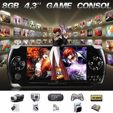 8GB 4.3 inch LCD screen Mp4 Player Video Game Console Game Free 2000 + Games ebo