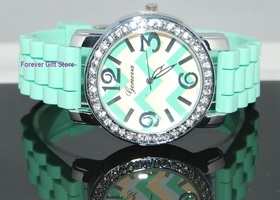 Luxury Mint Green Large Faced Watch