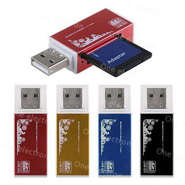 High Quality USB 2.0 All in 1 Multi Memory Card Reader for Micro SD