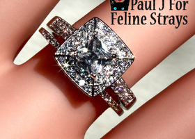 ✦ 5 6 8 9 10 Gorgeous Square Cut CZ Wedding Ring Set