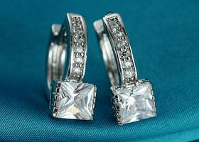 Two Pairs of Stunning CZ Gold Filled Earrings