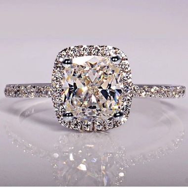 Brilliant 2ct white CZ super shining ring