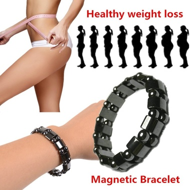 Biomagnetism Round Black Stone Magnetic Care Weight Loss Bracelet