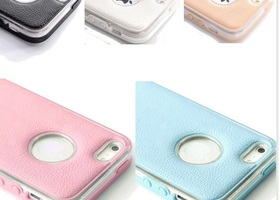 Shockproof Hybrid Luxury Leather Case,5,5s