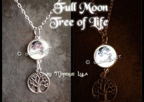 Tree of Life with Glowing Full Moon