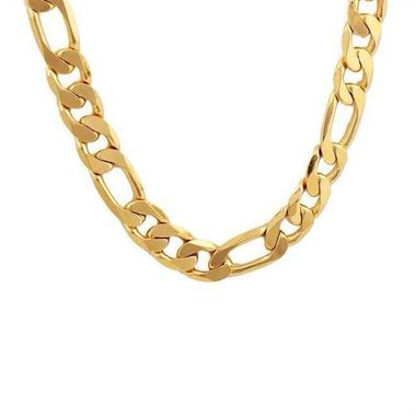 14K Gold Filled Solid Figaro Necklace 24