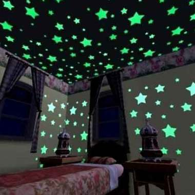 Free Shipping 100pcs/bag Wall Stickers Decal Glow In The Dark Baby Kids Bedroom