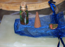 Money Drawing Spell Bottle
