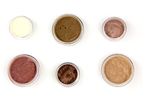 Medium to Dark Kit - Mineral Foundation, Blush,Eye Shad