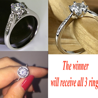 Nice Gift Super Shinning Italina  AAAA+ CZ wedding Engagement Rings for women 18
