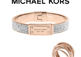 Michael Kors Rose Gold Ring & Bracelet Set