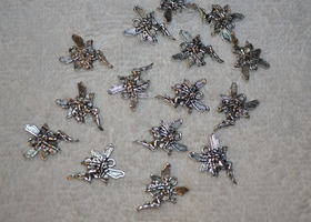 (15) Tibetan Alloy FAIRY/ANGEL Charms