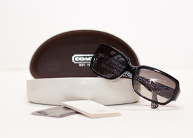 COACH NEW Black Framed Delphine Sunglasses L900