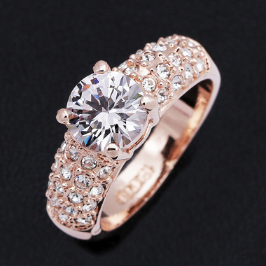 Elegant Rose Gold Plated 1.5 ct Sz 6/7/8/9 A1881A