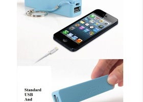 Mini Portable Power Bank Key Chain.