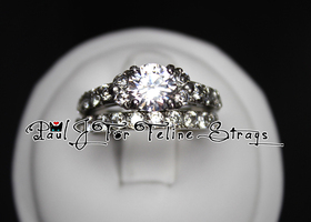 ✫ 6 7 8 Diamond-Cut ~4.02tcw CZ Ring Set