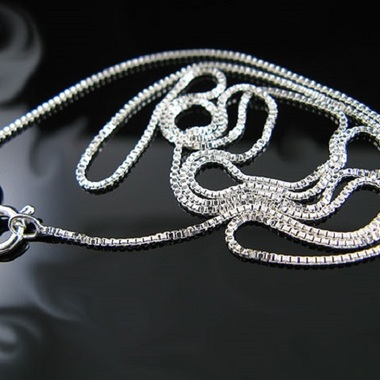Peermont Italian Sterling Silver Box Chain Necklace Choose your length